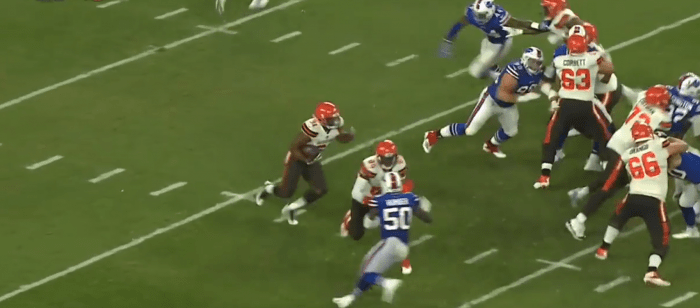 Matt Waldman's RSP Tweet of the Week: Brian Baldinger's Look at Nick Chubb